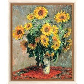Claude Monet: Bild 'Sonnenblumen' (1880), gerahmt