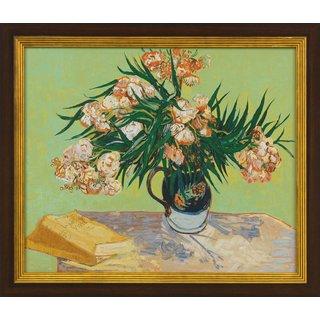 Vincent van Gogh: Bild 'Vase mit Oleander und Büchern' (1888), gerahmt