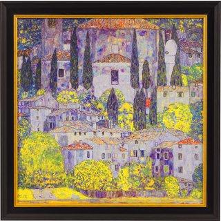 Gustav Klimt: Bild 'Kirche in Cassone am Gardasee' (1913), gerahmt