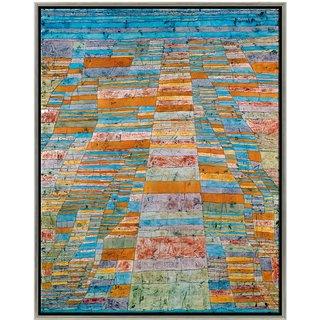 Paul Klee: Bild 'Haupt- und Nebenwege' (1929), gerahmt