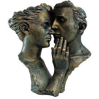 Angeles Anglada: Skulptur 'Hingebung', Kunstguss Steinoptik