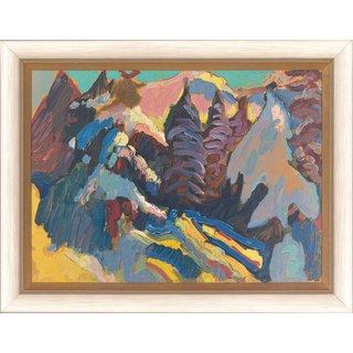 Wassily Kandinsky: Bild 'Naturstudie Kochel' (1909), gerahmt