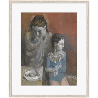 Pablo Picasso: Bild 'Mutter mit Kind (Gaukler)' (1905), gerahmt