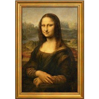 Leonardo da Vinci: Bild 'Mona Lisa (La Gioconda)' (um 1503/05), gerahmt