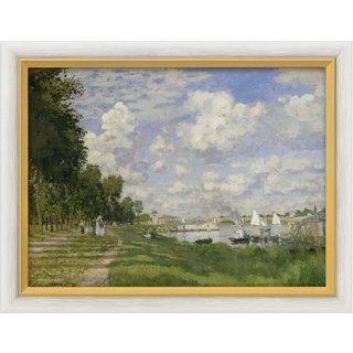 Claude Monet: Bild 'Le Bassin d'Argenteuil' (um 1872), gerahmt