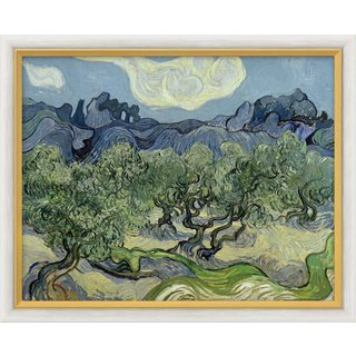 Vincent van Gogh: Bild 'Olivenbäume mit Les Alpilles' (1889), gerahmt