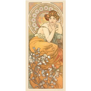 Alphonse Mucha: Glasbild 'Topas'