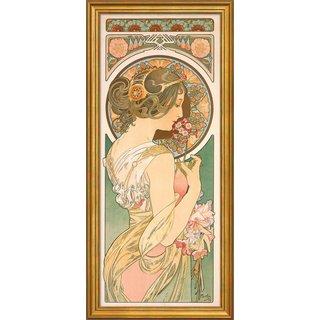 Alphonse Mucha: Bild 'Schlüsselblume' (1899), gerahmt