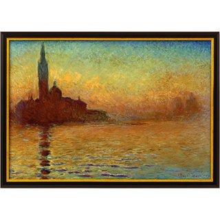 Claude Monet: Bild 'San Giorgio Maggiore in der Dämmerung' (1908), gerahmt