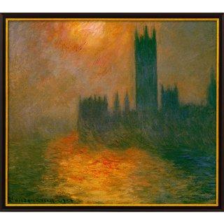 Claude Monet: Bild 'Das Parlament, Sonnenuntergang' (1904), gerahmt