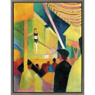 August Macke: Bild 'Seiltänzerin' (um 1913), gerahmt