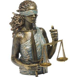 Angeles Anglada: Skulptur 'Justitia', Kunstguss Steinoptik