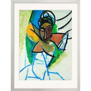 Pablo Picasso: Bild 'Femme (Époque des 'Demoiselles d'Avignon')'' (1907), gerahmt