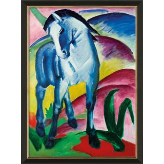 Franz Marc: Bild 'Blaues Pferd I' (1911), gerahmt