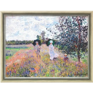 Claude Monet: Bild 'Spaziergang bei Argenteuil' (1873), gerahmt
