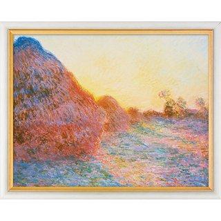 Claude Monet: Bild 'Strohschober im Sonnenlicht' (1890), gerahmt