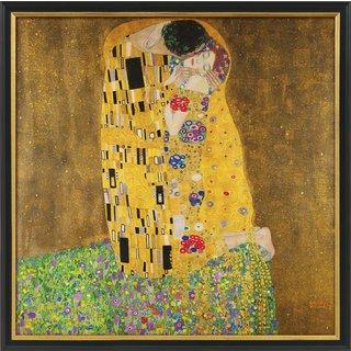 Gustav Klimt: Bild 'Der Kuss' (1907-08), gerahmt