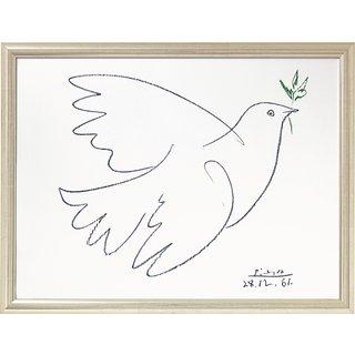 Pablo Picasso: Bild 'Friedenstaube' (1961), gerahmt