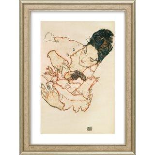 Egon Schiele: Bild 'Stillende Mutter (Stephanie Grunewald)' (1917), gerahmt