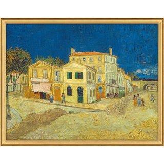 Vincent van Gogh: Bild 'Das gelbe Haus' (1888), gerahmt