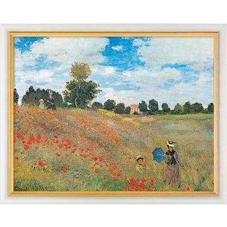 Claude Monet: Bild 'Les coquelicots à Argenteuil (Das Mohnfeld bei Argenteuil)' (1873), gerahmt