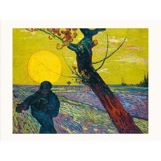 Vincent van Gogh: Bild 'Sämann bei untergehender Sonne' (1888), ungerahmt