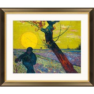 Vincent van Gogh: Bild 'Sämann bei untergehender Sonne' (1888), gerahmt