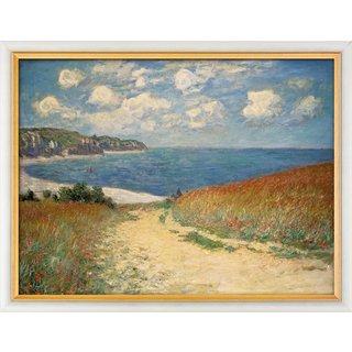 Claude Monet: Bild 'Strandweg zwischen Weizenfeldern nach Pourville' (1882), gerahmt