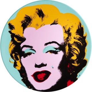 Andy Warhol: Porzellanteller 'Marilyn' (Blau)