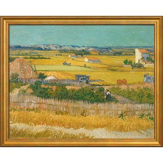 Vincent van Gogh: Bild 'Die Ernte' (1888), gerahmt