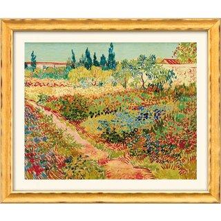 Vincent van Gogh: Bild 'Blühender Garten mit Pfad' (1888), gerahmt
