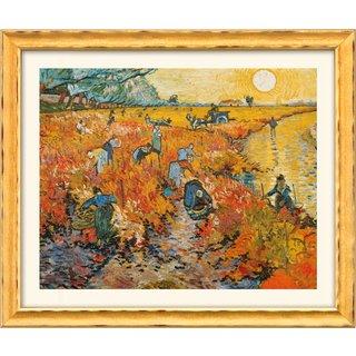 Vincent van Gogh: Bild 'Der rote Weingarten in Arles' (1888), gerahmt