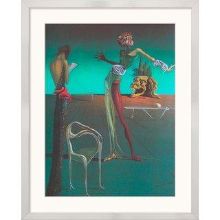 Salvador Dalí: Bild 'Die Frau mit dem Rosenkopf' (1935), gerahmt
