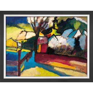 Wassily Kandinsky: Bild 'Herbstlandschaft mit Baum' (1910), gerahmt