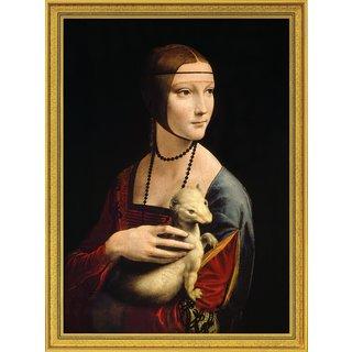 Leonardo da Vinci: Bild 'Die Dame mit dem Hermelin' (1488-90), gerahmt