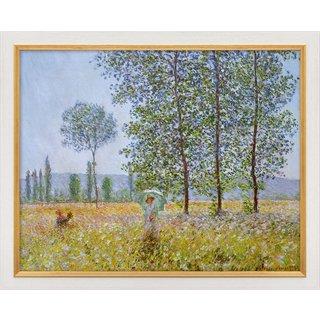 Claude Monet: Bild 'Felder im Frühling' (1887), gerahmt