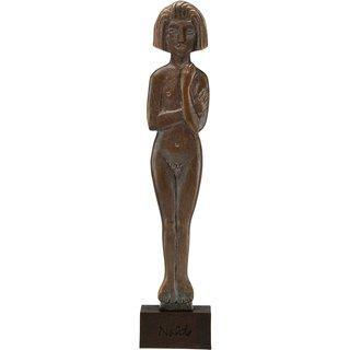 Emil Nolde: Skulptur 'Stehende Frau' (1913/14), Bronze