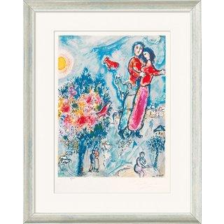 Marc Chagall: Bild 'Entre L'Hiver et le Printemps' (1974), gerahmt