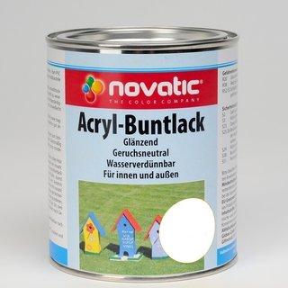 RAL9010 Reinweiss 750 ml novatic Acryl-Buntlack AD26 glänzend - RAL9010 Reinweiss - 750ml
