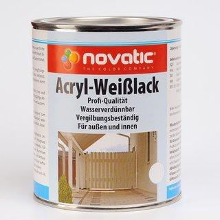 750 ml novatic Acryl-Weißlack AD26 - weiß - 750ml