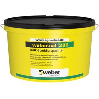 naturweiß 20 kg weber.cal 286, 20kg - Kalk-Strukturspachtel - naturweiß - 0,5mm