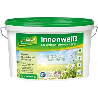 pronatur Innenweiß Silikat-Mineralfarbe Inhalt:10l