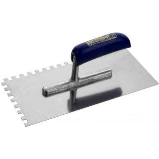 Zahnglättekelle Ausführung:Stahl rostfrei  Zahnung:8 x 8mm