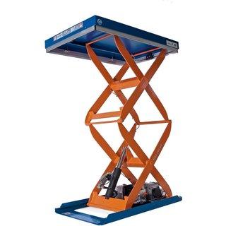 Ein Scheren-Hubtisch EdmoLift® der C-Serie für die Arbeit in luftigen Höhen Müssen in einem Berufsfe