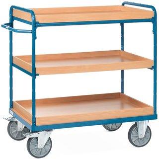 Etagenwagen fetra® mit Einlegekästen für flexiblen Materialtransport Für flüssige Arbeitsprozesse is