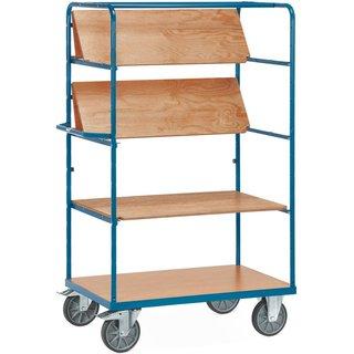 Der Etagenwagen fetra® mit faltbaren Böden für vielseitige Nutzungsmöglichkeiten Dieser Transportwag