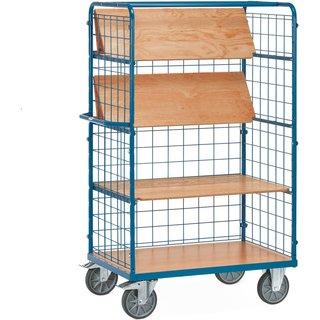 Etagenwagen fetra® mit faltbaren Böden Der besonders stabile Etagenwagen ist aus robustem Stahlrohr