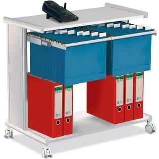 Der mobile und sehr hilfreiche Vielzweck-Bürowagen verfügt dank seiner stabilen Stahlkonstruktion üb