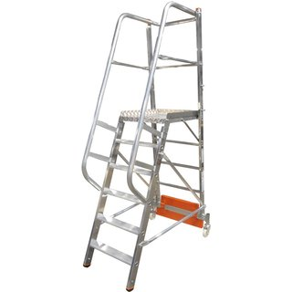 Sicher auf- und absteigen mit der Plattformleiter KRAUSE® Vario Mit dieser Stufenleiter erleichtern