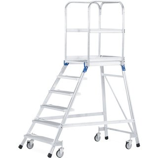 Treppenpodest für sicheres und ergonomisches Arbeiten Wer häufig Arbeiten in der Höhe durchführt, fi